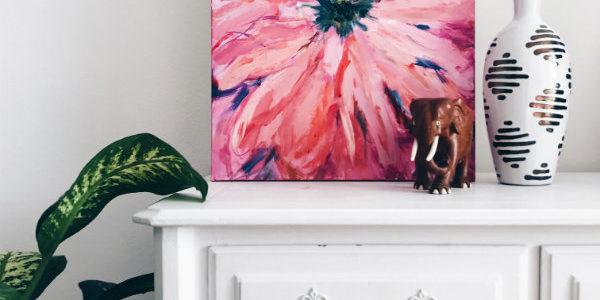 Peinture de fleurs abstraites