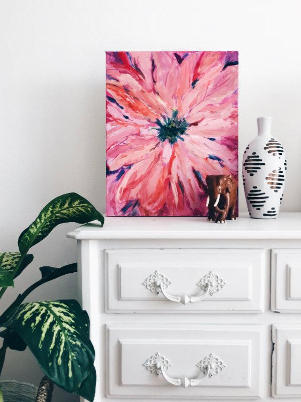 peinture fleur