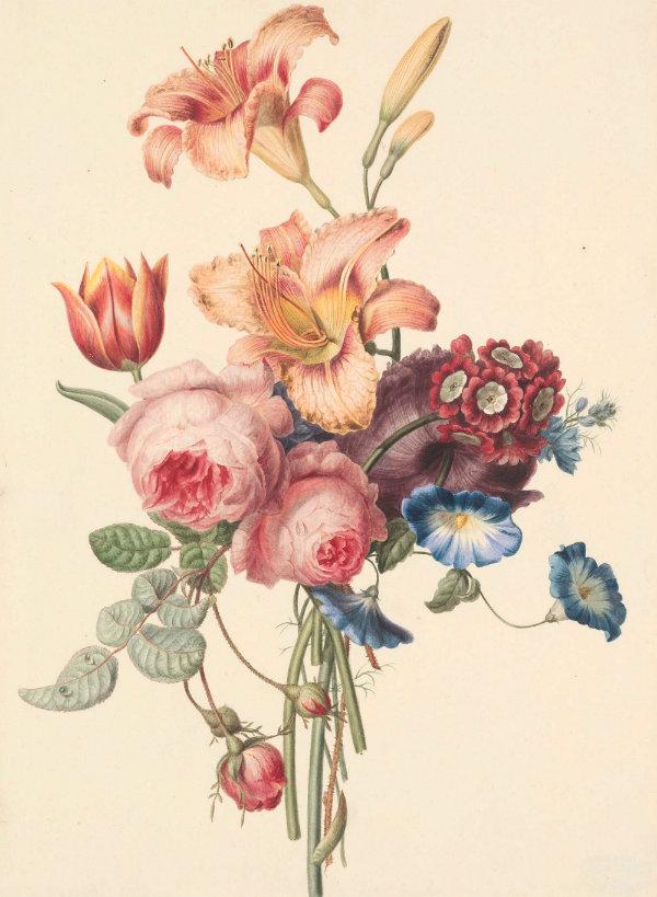 peinture fleurs abstraites